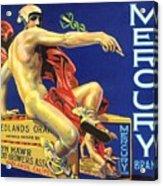 Mercury Greek God Label Acrylic Print
