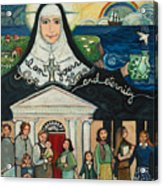 Mercy Foundress Catherine Mcauley Acrylic Print