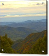 Mercy Me- A Fall View Of Craggy Gardens Nc Acrylic Print