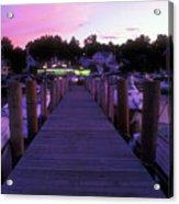 Meredith Nh Boardwalk At Twilight Acrylic Print