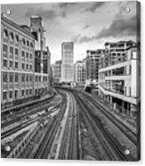 Merging Tracks Acrylic Print