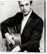 Merle Haggard, Music Legend By John Springfield Acrylic Print