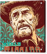 Merle Haggard Pop Art Acrylic Print