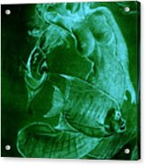 Mermaid And Fish Acrylic Print