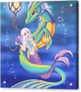 Mermaid And Sea Dragon Acrylic Print