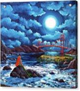 Mermaid At The Golden Gate Bridge  Acrylic Print