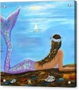 Mermaid Beauty On The Beach Acrylic Print