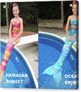 Mermaid Costume For Kids In Canada Acrylic Print