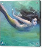 Mermaid Freedom Acrylic Print
