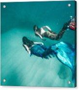 Mermaid Friends Acrylic Print
