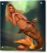 Mermaid Gold Acrylic Print