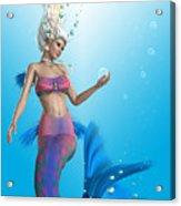 Mermaid In Aqua Acrylic Print