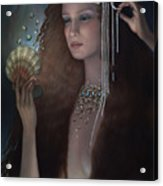 Mermaid Acrylic Print by Jane Whiting Chrzanoska