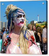 Mermaid Parade Man In Coney Island Acrylic Print