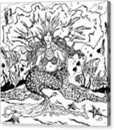 Mermaid Queen Acrylic Print