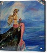 Mermaid Rainbow Wishes Acrylic Print