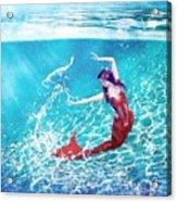 Mermaid Red Acrylic Print