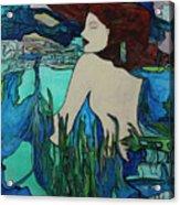 Mermaid  Sleeping Acrylic Print
