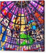 Mermaid Stained Glass Art  Acrylic Print