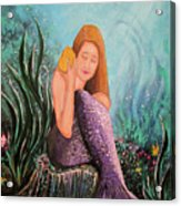 Mermaid Under The Sea Acrylic Print