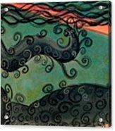Mermaid Under The Sea Acrylic Print