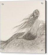 Mermaid Waiting Acrylic Print