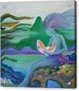 Mermaid With Oyster Acrylic Print