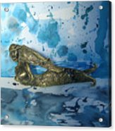 Mermaid With Sea Spray By Nanzy Acrylic Print