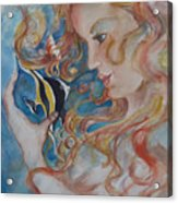 Mermaids Kiss Acrylic Print