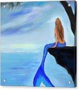 Mermaids Lovely Oasis Acrylic Print