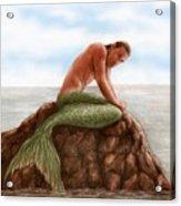 Merman Resting Acrylic Print