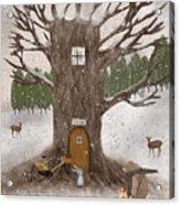 Merry Berry Wood Acrylic Print