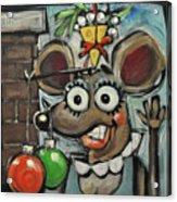 Merry Chrismouse Acrylic Print