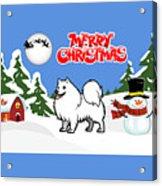 Merry Christmas American Eskimo Dog  Acrylic Print