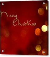 Merry Christmas Card - Bokeh Acrylic Print
