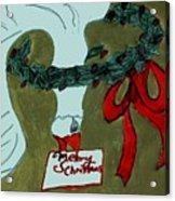 Merry Christmas Goose Acrylic Print