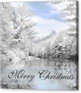 Merry Christmas - Lykens Reservoir Acrylic Print