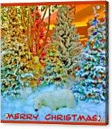 Merry Christmas Polar Bears Acrylic Print