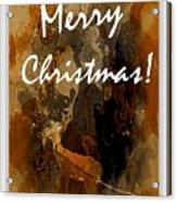 Merry Christmas Reindeer 2 Acrylic Print