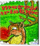 Merry Christmas Reindeer Acrylic Print