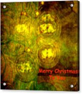 Merry Christmas To You Too Acrylic Print