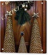 Merry Christmas Trees Acrylic Print