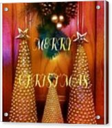 Merry Christmas Trees Colorful Acrylic Print