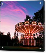 Merry - Go - Round At Sunset Acrylic Print
