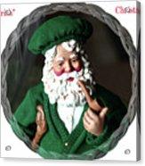 Merry Irish Santa Acrylic Print