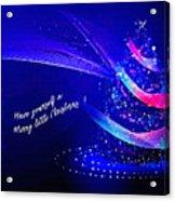 Merry Little Christmas Card 2017 Acrylic Print