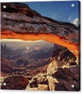 Mesa Arch At Sunrise Acrylic Print