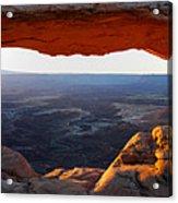 Mesa Arch Panorama Acrylic Print