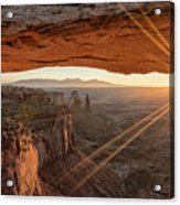 Mesa Arch Sunrise 4 - Canyonlands National Park - Moab Utah Acrylic Print