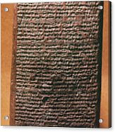 Mesopotamian Cuneiform Acrylic Print